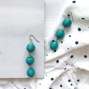 BaubleBar Triad Ball Drop Earrings -  Turquoise